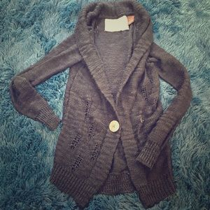 Element chunky cable knit button front cardigan🌿